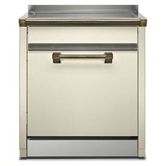 Steel Als-7 Dishwasher block cm. 70 - cream free installation Ascot