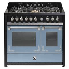 sale Steel Oxford X10ff The Kitchen Beside Cm. 100 - Sky Blue 2 Electric Ovens