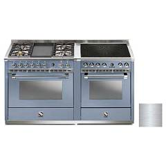 Steel A16sf-4t4i Kitchen from accosto cm. 160 - inox 2 electric ovens - 4 burners + fry top + induction hob Ascot