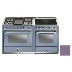 Steel A16sf-4t4i Kitchen from accosto cm. 160 - ametist 2 electric ovens - 4 burners + fry top + induction hob Ascot