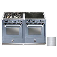 Steel A14sf-44i Kitchen from accosto cm. 140 - inox 2 electric ovens - 4 burners + induction hob Ascot