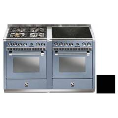 Steel A14sf-44i Kitchen from accosto cm. 140 - black 2 electric ovens - 4 burners + induction hob Ascot