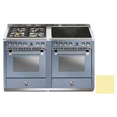 Steel A14sf-44i Kitchen from accosto cm. 140 - 2 electric ovens cream - 4 burners + induction hob Ascot