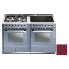 Steel A14sf-44i Kitchen from accosto cm. 140 - bordeaux 2 electric ovens - 4 burners + induction hob Ascot