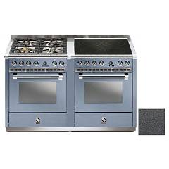 Steel A14sf-44i Kitchen from accosto cm. 140 - anthracite 2 electric ovens - 4 burners + induction hob Ascot