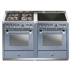 Steel A14sf-44i Kitchen from accosto cm. 140 - celeste 2 electric ovens - 4 burners + induction hob Ascot