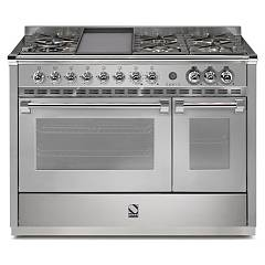 Steel A12sf Kitchen cm. 120 - combined steam oven electric auxiliary oven Ascot 120