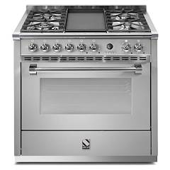 Steel A9f Kitchen cm. 90 - multifunction oven Ascot 90