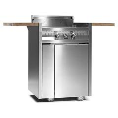 Steel I7c-2 Barbecue cm. 130 - 2 burners - stainless steel Green