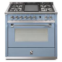 sale Steel Ascot A9s Kitchen Cm. 90 Celeste - Oven Combined With Steam
