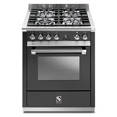 Steel A7s Kitchen cm. 70 anthracite - steam combined oven Ascot