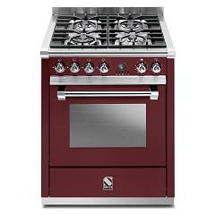 sale Steel Ascot A7s Kitchen Cm. 70 Bordeaux - Oven Combined With Steam