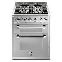 Steel A7ff Kitchen cm. 70 inox - double electric oven Ascot