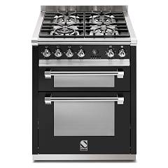 sale Steel Ascot A7ff Kitchen Cm. 70 Black - Double Oven Electric