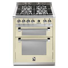 Steel A7ff Kitchen cm. 70 cream - double electric oven Ascot