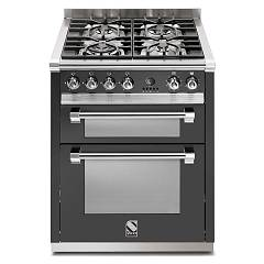 Steel A7ff Kitchen cm. 70 anthracite - double electric oven Ascot