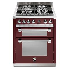 sale Steel Ascot A7ff Kitchen Cm. 70 Bordeaux - Double Electric Oven