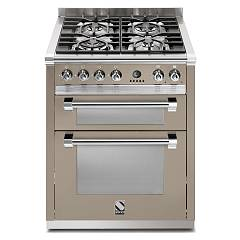 Steel A7ff Kitchen cm. 70 sand - double electric oven Ascot