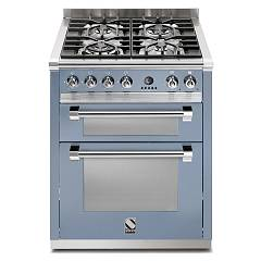 sale Steel Ascot A7ff Kitchen Cm. 70 Celestial - Double-oven Electric