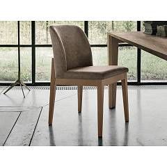 Target Point Se508 - Salisburgo Chair in wood and eco-leather