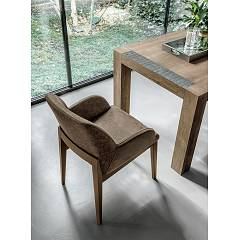 Target Point PT508 - SALISBURGO Armchair in wood and leather