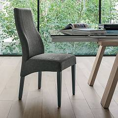 Target Point Se515 - Ginevra Chair in wood and eco-leather