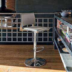Target Point Sg173 - Happy Wood Revolving stool in metal and eco-leather