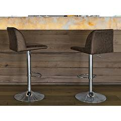 Target Point Sg141 - Salisburgo Revolving stool in metal and eco-leather