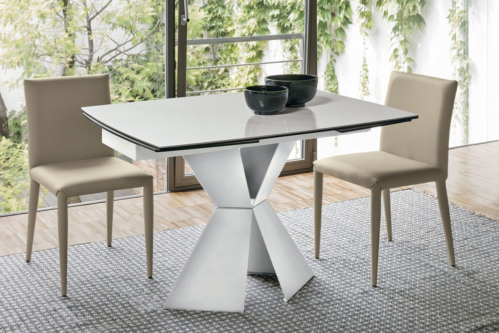 Tavolo Allungabile 80 X 120.Target Point Poseidone Ta1a Extensible Shaped Table Painted