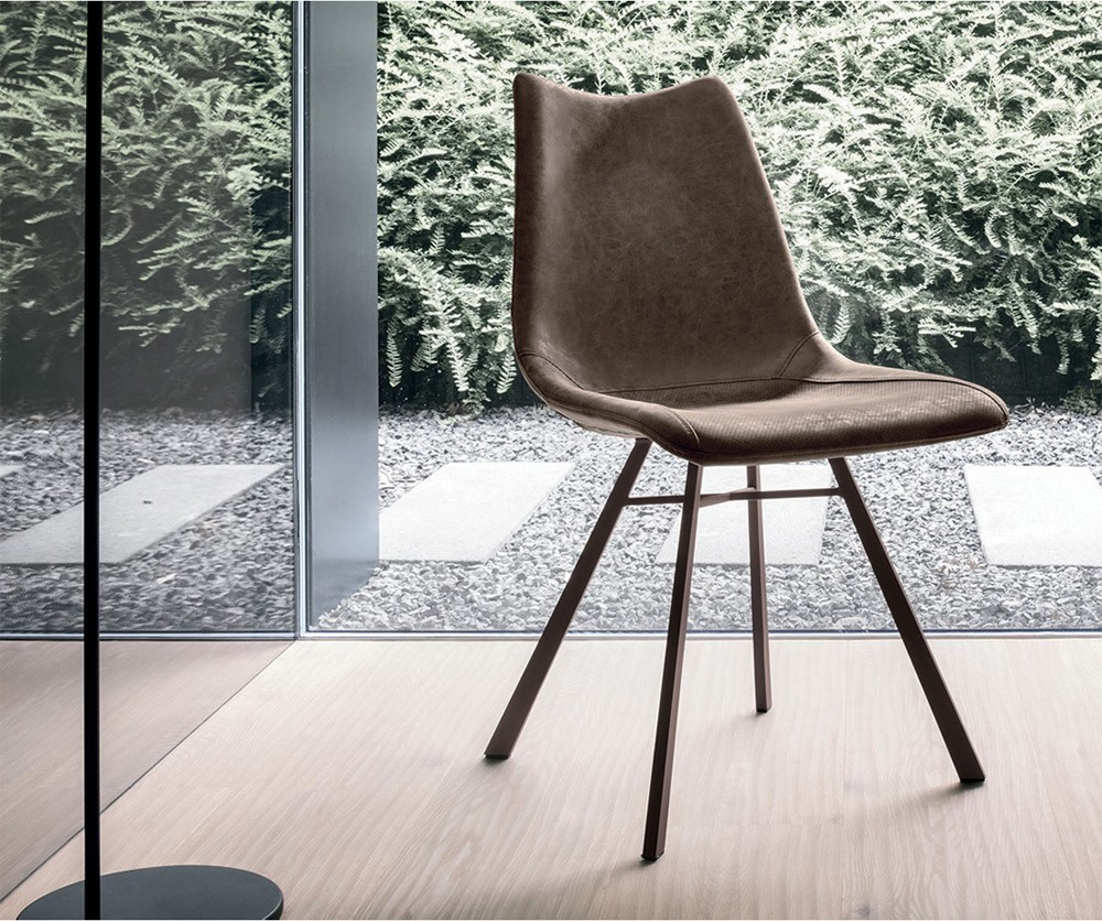 Photos 1: Target Point SE190 - MAIORCA Chair in metal and eco-leather