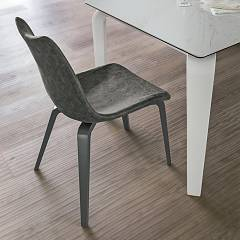 Target Point Se190 - Maiorca Wood Chair in wood and eco-leather