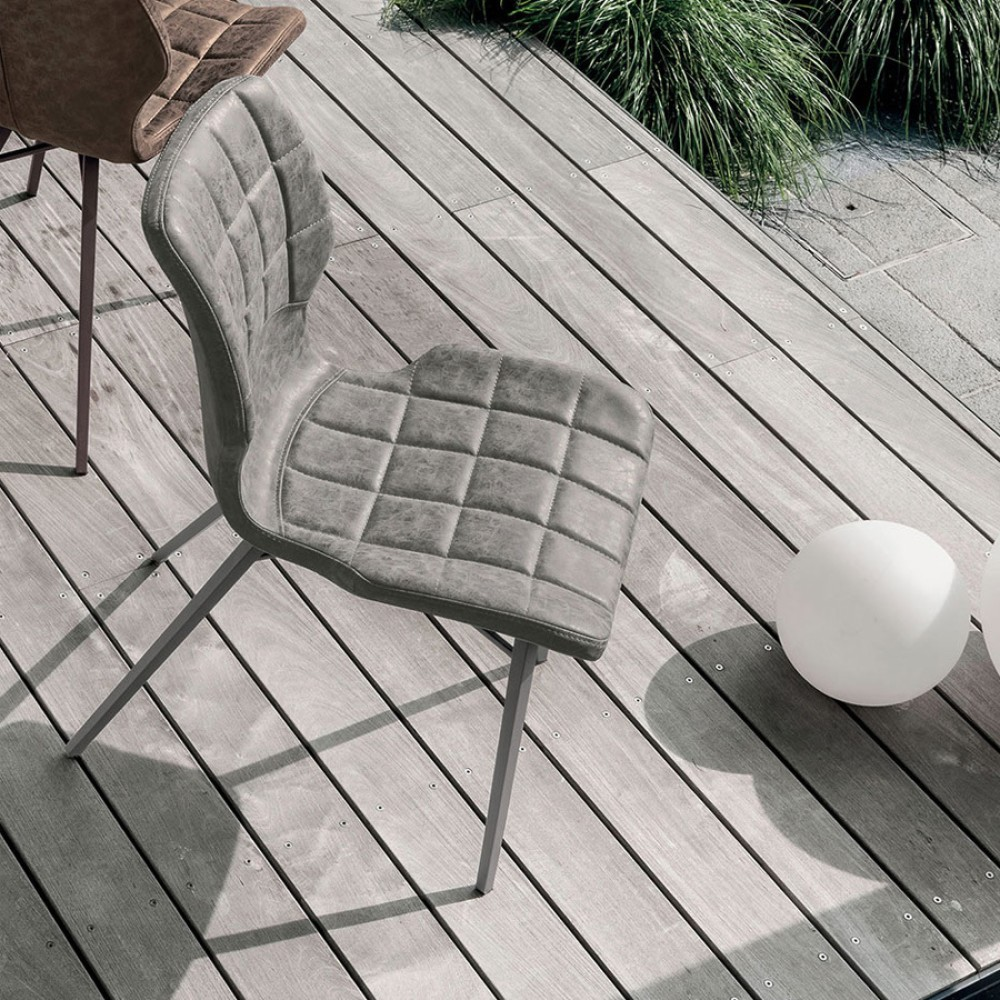 Photos 1: Target Point SE189 - SANTIAGO Chair in metal and eco-leather