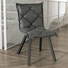 Target Point Se185 - Digione Chair in metal and eco-leather / microfibre