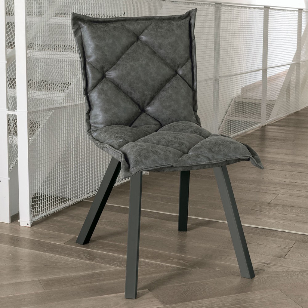 Photos 1: Target Point SE185 - DIGIONE Chair in metal and eco-leather / microfibre
