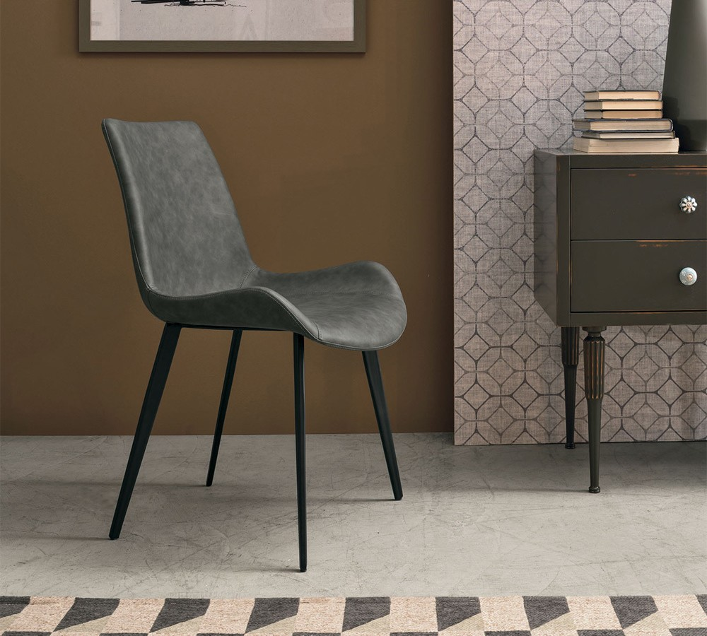 Photos 1: Target Point SE195 - MALAGA Chair in metal and eco-leather