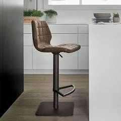 Target Point Sg189 - Santiago Revolving stool in metal and eco-leather