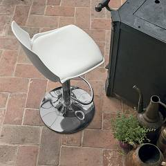 Target Point Sg193 - Valencia Revolving stool in metal and plastic / eco-leather