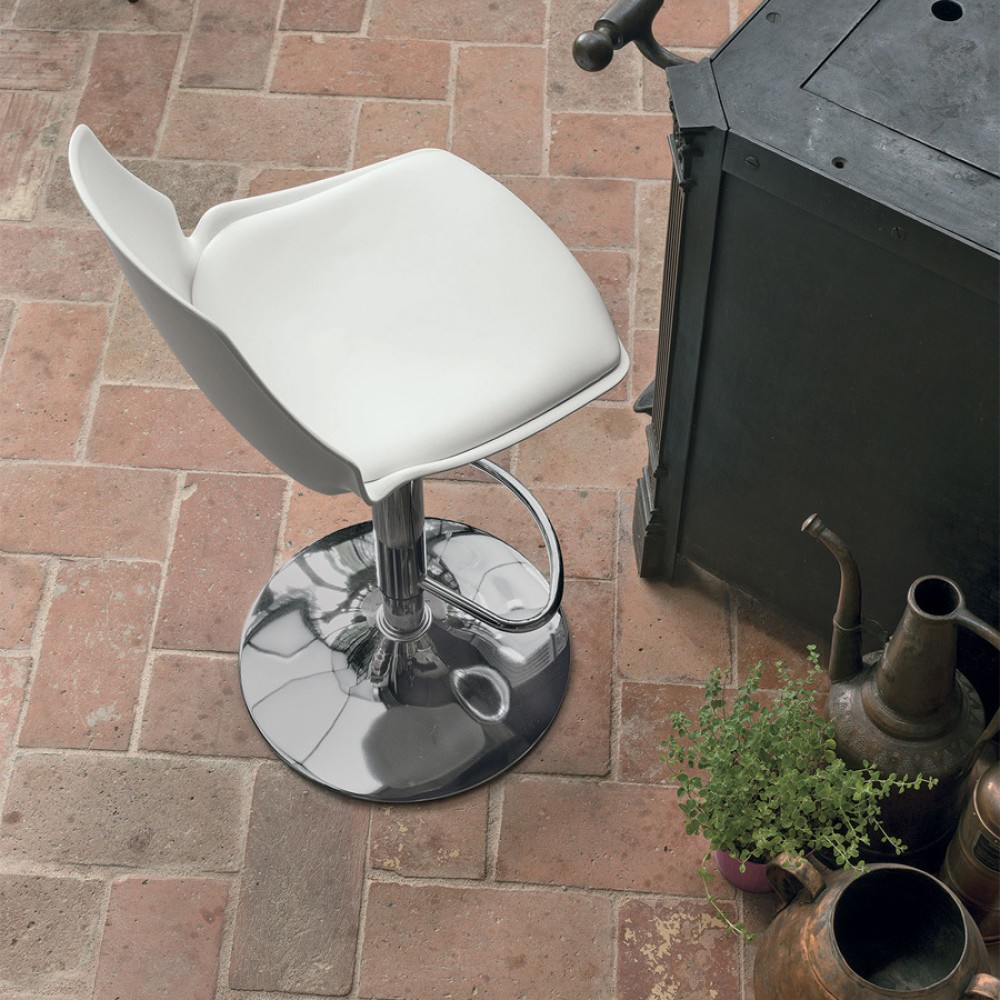 Photos 1: Target Point SG193 - VALENCIA Revolving stool in metal and plastic / eco-leather