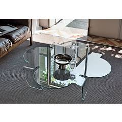 Target Point Tlc09 - Quadrifoglio Fixed glass coffee table l. 100 x 100