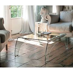 Target Point Tlc12 - Bridge Fixed glass coffee table l. 110 x 65