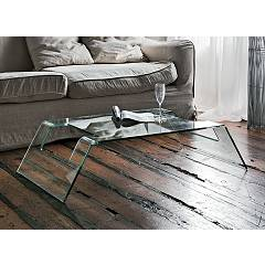 Target Point Tlc18 - Radon Fixed table in glass l. 115 x 65
