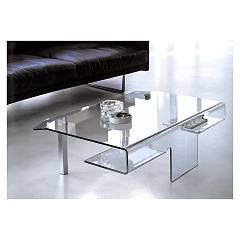 Target Point Tlc07 - Aries Fixed glass coffee table l. 110 x 65