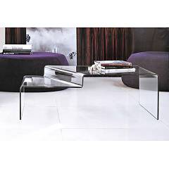 Target Point Tlc17 - Neon Fixed glass coffee table l. 110 x 65