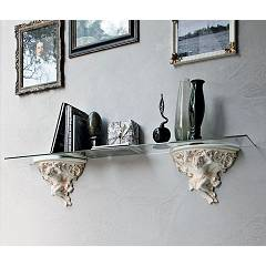 Target Point ML302 - PUTTO Shelf in ceramics and glass cm 150