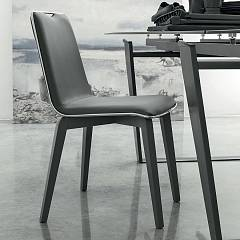 Target Point Se505 - Losanna Chair in wood and eco-leather