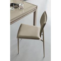 Target Point Se173 - Happy Stackable chair in metal and eco-leather