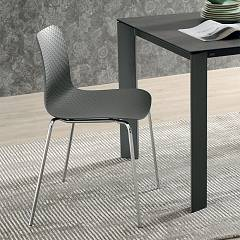 Target Point Colonia Stackable chair - metal frame and polypropylene seat