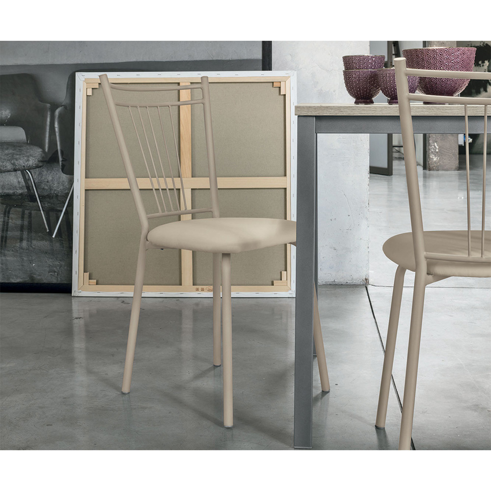 Photos 1: Target Point Chair in metal and net / eco-leather / straw SE104 - GARDA