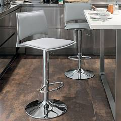 Target Point Sg173 - Happy Revolving stool in metal and eco-leather
