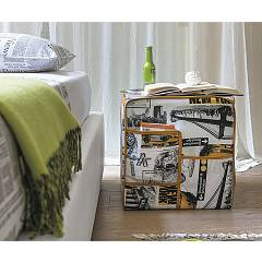 Target Point Pf607 - Citymap Pouf covered in fabric